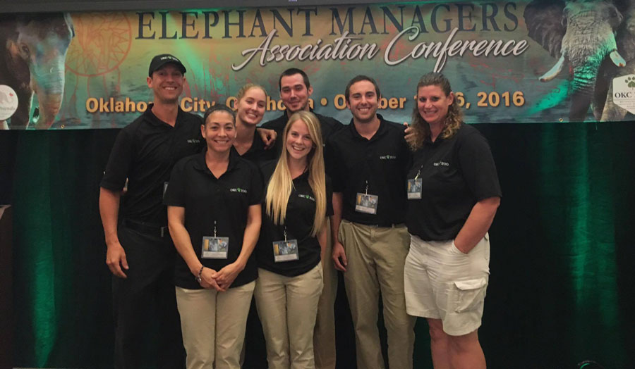 Rachel Emory and the elephant care staff at the Elephant Managers Conference