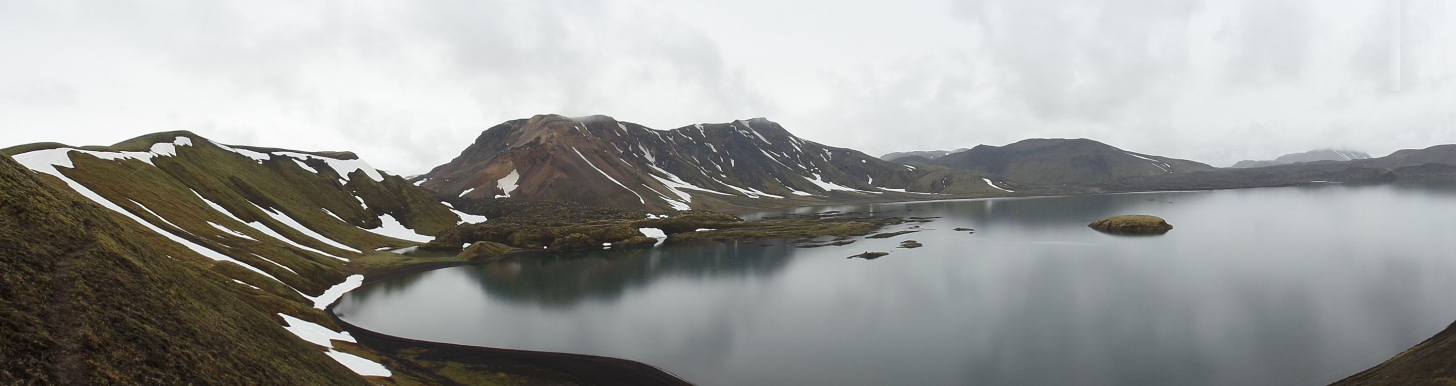 Frostastaðavatn is a clear spring fed lake in the southern highlands near Landmannalaugar. It has abundant stickleback as well as arctic charr. Copyright: Jenny Boughman