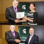 Jeanette McGuire and Gary Mittelbach Accoladed at the NatSci Awards Presentation